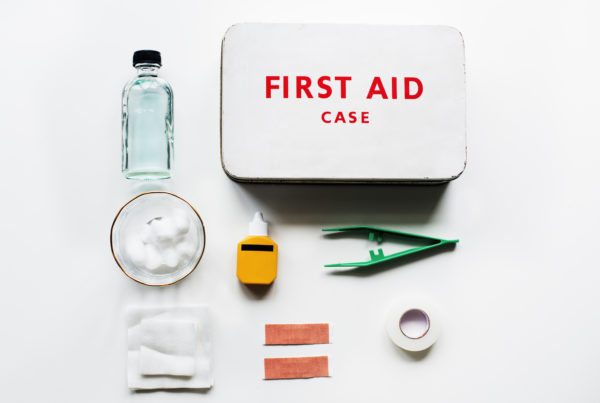 aerial-view-of-first-aid-kit-equipment